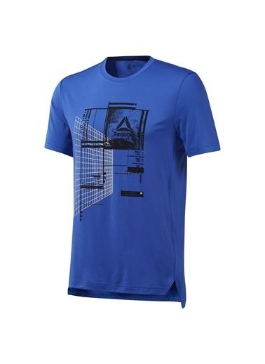 Reebok Wor Recy Graph Tech Erkek Mavi Antrenman Tişört Dp6151 Renkli